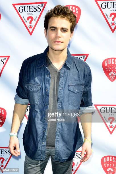 Paul Wesley attends the GUESS Hotel at the Viceroy Palm Springs on April 12 2014 in Palm Springs California