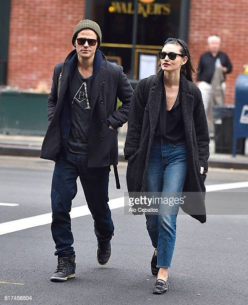 Paul Wesley Phoebe Tonkin are seen in Tribeca on March 25 2016 in New York City
