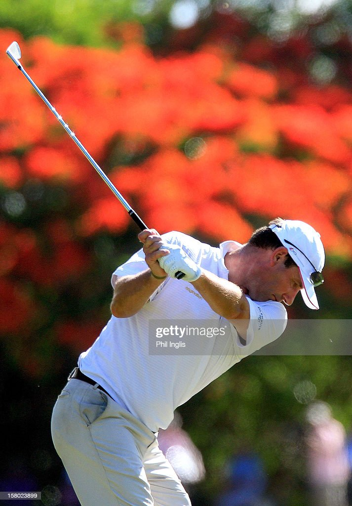Paul Wesselingh of England in action during the final round of the MCB Tour Championship played at the Legends Course, Constance Belle Mare Plage on December 9, 2012 in Poste de Flacq, Mauritius.