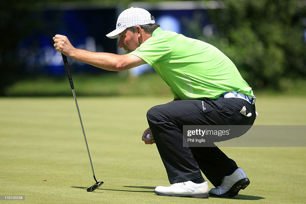 Paul Wesselingh of England in action during the final round of the Bad Ragaz PGA Seniors Open played at Golf Club Bad Ragaz on July 7, 2013 in Bad Ragaz, Switzerland.