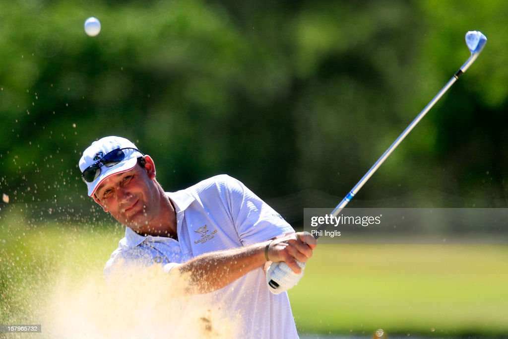 Paul Wesselingh of England in action during the second round of the MCB Tour Championship played at the Legends Course, Constance Belle Mare Plage on December 8, 2012 in Poste de Flacq, Mauritius.