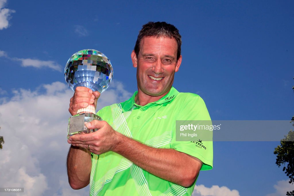 Paul Wesselingh of England poses with the trophy after the final round of the Bad Ragaz PGA Seniors Open played at Golf Club Bad Ragaz on July 7, 2013 in Bad Ragaz, Switzerland.