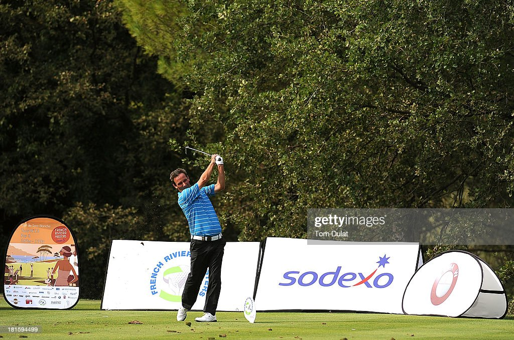 Paul Wesselingh of England tees off during the final round of the French Riviera Masters played over the Chateau Course, Terre Blanche Resort on September 22, 2013 in Provencheres-sur-Fave, France.