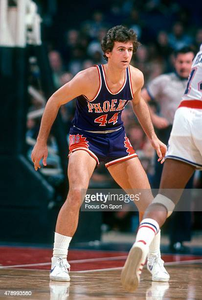 Paul Westphal of the Phoenix Suns in action against the Washington Bullets during an NBA basketball game circa 1978 at the Capital Centre in Landover...