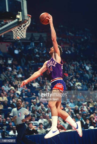 Paul Westphal of the Phoenix Suns lays the ball up against the Washington Bullets during an NBA basketball game circa 1979 at the Capital Centre in...