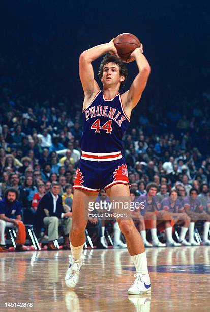 Paul Westphal of the Phoenix Suns looks to make a pass against the Washington Bullets during an NBA basketball game circa 1978 at the Capital Centre...
