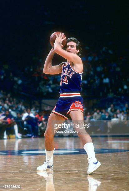 Paul Westphal of the Phoenix Suns looks to pass the ball against the Washington Bullets during an NBA basketball game circa 1978 at the Capital...