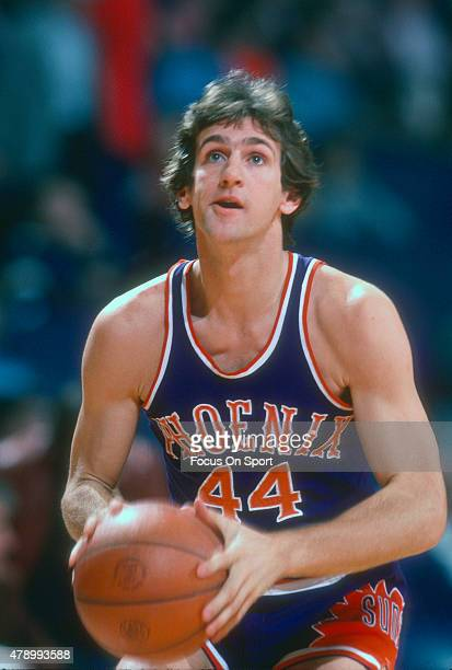 Paul Westphal of the Phoenix Suns looks to shoot against the Washington Bullets during an NBA basketball game circa 1978 at the Capital Centre in...