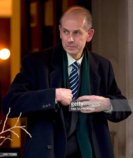 Paul Whybrew leaves the Goring Hotel after attending a Christmas Lunch hosted by Queen Elizabeth II for her close members of staff on December 03...