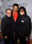 Paul Williams Chubby Checker and ASCAP Executive VP of Creative Services John Titta attend the Songwriters Hall of Fame 45th Annual Induction and...