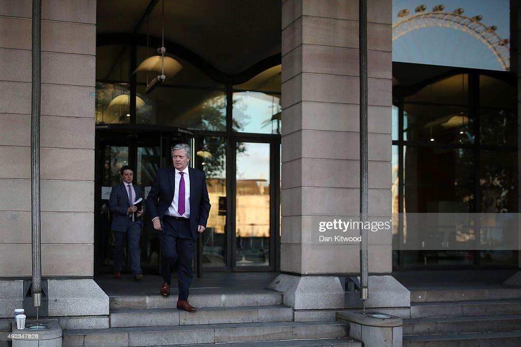 Paul Willis Managing Director of Volkswagen Group UK leaves Portcullis House after answering questions from a select comitee on Volkswagen Group's...