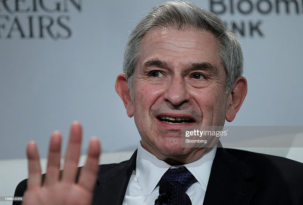<a gi-track='captionPersonalityLinkClicked' href=/galleries/search?phrase=Paul+Wolfowitz&family=editorial&specificpeople=204502 ng-click='$event.stopPropagation()'>Paul Wolfowitz</a>, scholar at American Enterprise Institute for Public Policy Research (AEI) and former president of World Bank Group, speaks at the Bloomberg Global Markets Summit in New York, U.S., on Thursday, Jan. 17, 2013. The Bloomberg Global Markets Summit, co-hosted by Foreign Affairs Magazine and Bloomberg LINK, convenes market makers and market movers as investors map their strategy for the year ahead. Photographer: Jin Lee/Bloomberg via Getty Images