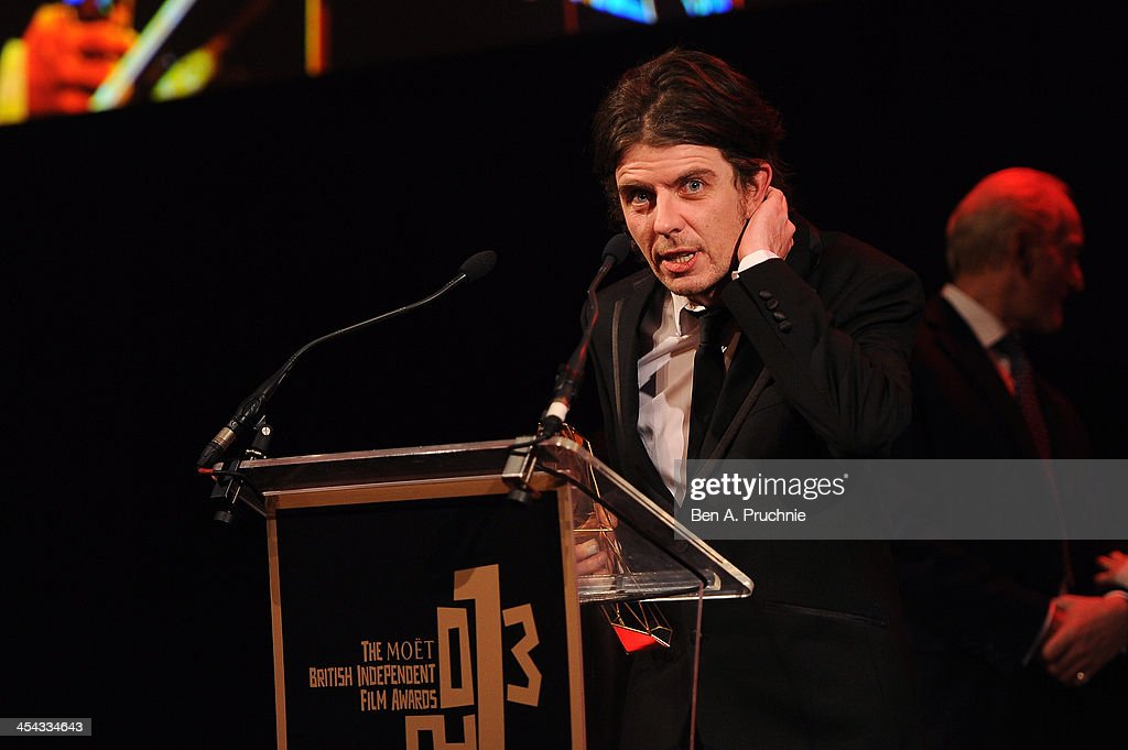 Paul Wright receives the Douglas Hickox Award as he attends the ceremony for the Moet British Independent Film Awards at Old Billingsgate Market on December 8, 2013 in London, England.