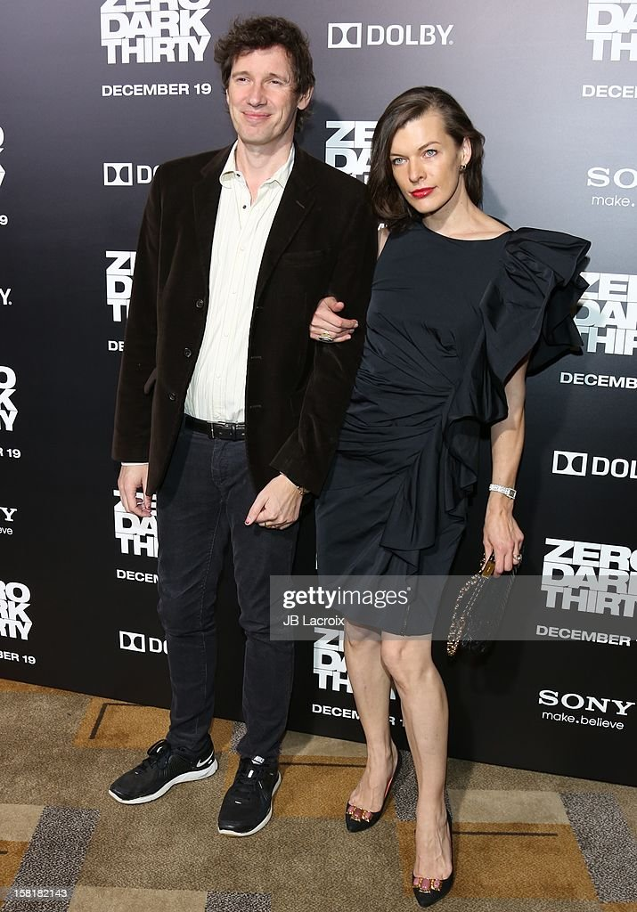 Paul W.S. Anderson and Milla Jovovich attend the 'Zero Dark Thirty' Los Angeles premiere at Dolby Theatre on December 10, 2012 in Hollywood, California.