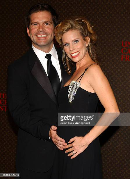 Paul Young and Cheryl Hines during The Louis Vuitton United Cancer Front Gala Arrivals at Private Residence in Holmby Hills California United States