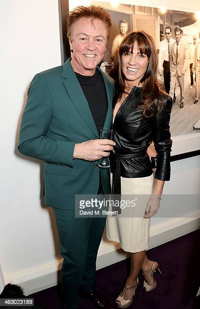 Paul Young and Stacey Smith attend a private view of 'The Best Of Terry O'Neill' exhibition at The Little Black Gallery on January 16 2014 in London...
