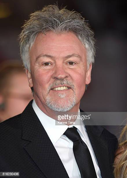 Paul Young arrives for the European premiere of 'Eddie The Eagle' at Odeon Leicester Square on March 17 2016 in London England