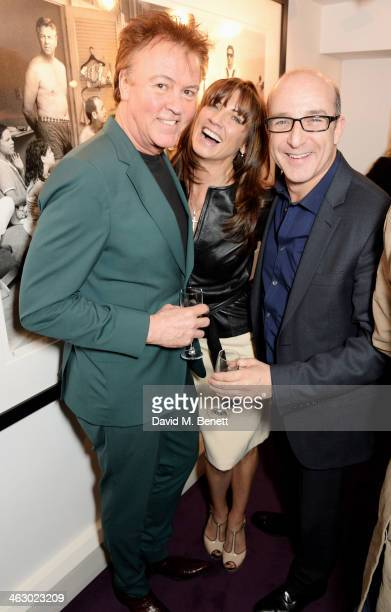 Paul Young Stacey Smith and Paul McKenna attend a private view of 'The Best Of Terry O'Neill' exhibition at The Little Black Gallery on January 16...