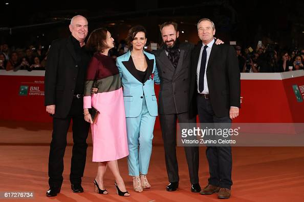Paul Zaentz Kristin Scott Thomas Juliette Binoche Ralph Fiennes and Julian Wadham walk a red carpet for 'The English Patient Il Paziente Inglese'...