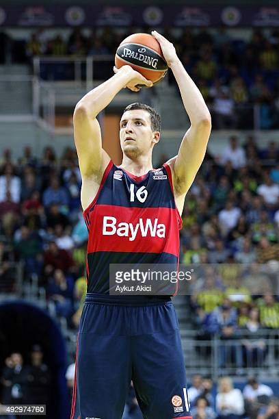 Paul Zipser #16 of FC Bayern Munich in action during the Turkish Airlines Euroleague Basketball Regular Season Date 1 game Fenerbahce Istanbul v FC...