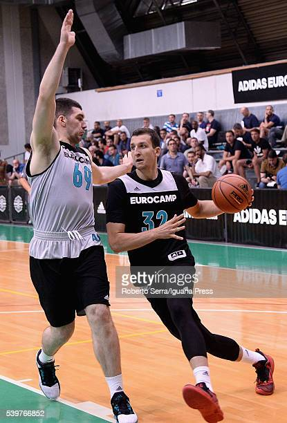 Paul Zipser in action during Adidas Eurocamp Day Two at La Ghirada sports center on June 11 2016 in Treviso Italy