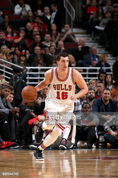 Paul Zipser of the Chicago Bulls handles the ball against the Sacramento Kings on January 21 2017 at the United Center in Chicago Illinois NOTE TO...
