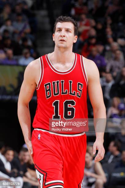 Paul Zipser of the Chicago Bulls looks on during the game against the Sacramento Kings on February 6 2017 at Golden 1 Center in Sacramento California...