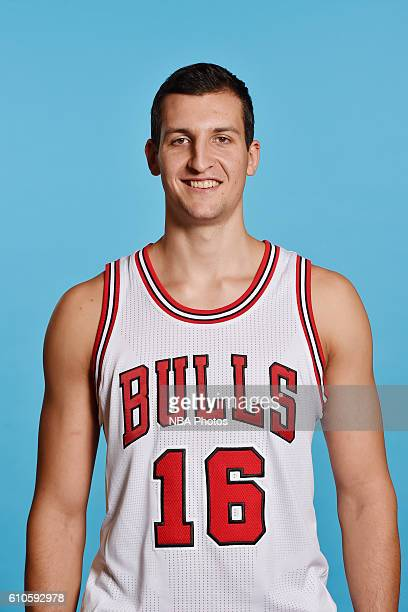 Paul Zipser of the Chicago Bulls poses for a head shot during the 20162017 Chicago Bulls Media Day on September 26 2016 at the Advocate Center in...
