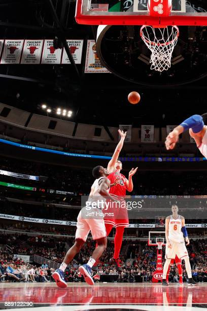 Paul Zipser of the Chicago Bulls shoots the ball against the New York Knicks on December 9 2017 at the United Center in Chicago Illinois NOTE TO USER...