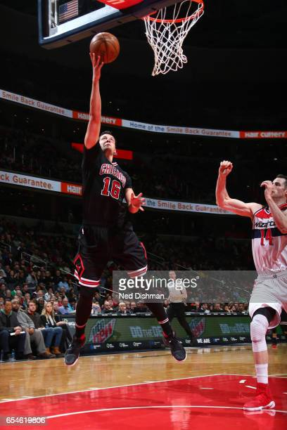 Paul Zipser of the Chicago Bulls shoots the ball against the Washington Wizards on March 17 2017 at Verizon Center in Washington DC NOTE TO USER User...