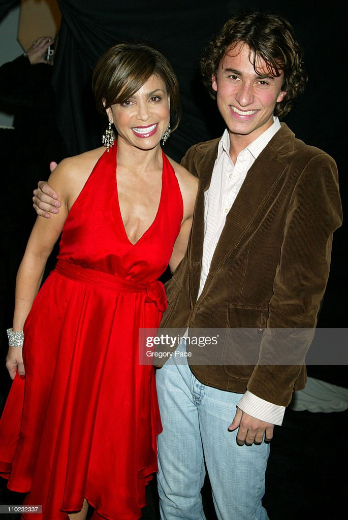 Paula Abdul and designer Esteban Cortazar during Olympus Fashion Week Fall 2005 - Heart Truth Red Dress Collection - Special Post-Show Meet and Greet with First Lady Laura Bush at Bryant Park Tents in New York City, New York, United States.