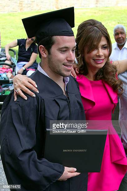 Paula Abdul and her nephew Austin Mandel are seen on May 27 2012 in Providence Rhode Island