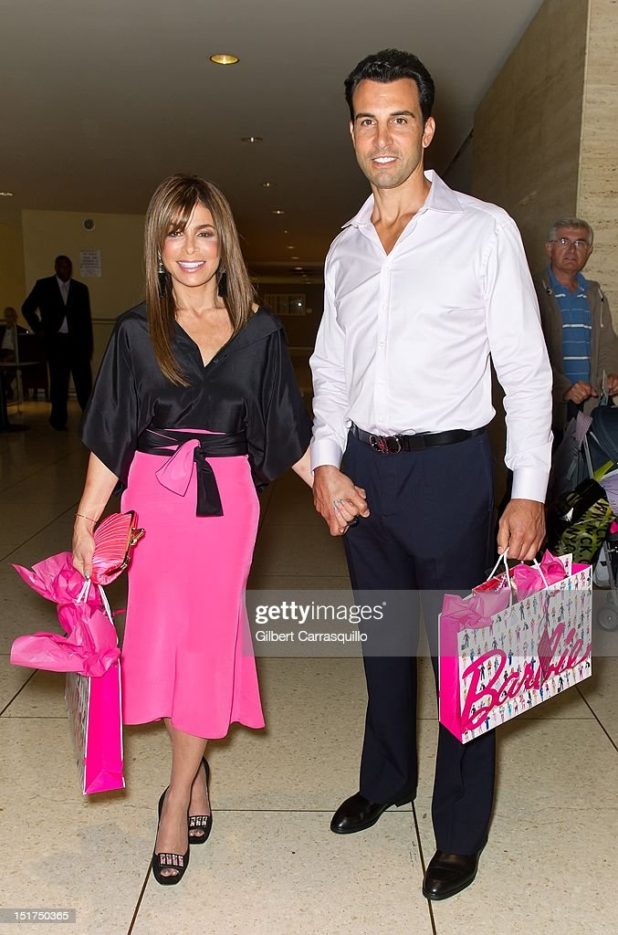 <a gi-track='captionPersonalityLinkClicked' href=/galleries/search?phrase=Paula+Abdul&family=editorial&specificpeople=202119 ng-click='$event.stopPropagation()'>Paula Abdul</a> and John Caprio are seen around Lincoln Center during Spring 2013 Mercedes-Benz Fashion Week on September 10, 2012 in New York City.