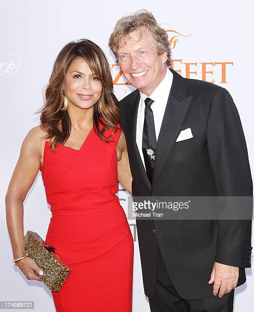 Paula Abdul and Nigel Lythgoe arrive at the Dizzy Feet Foundation's 3rd Annual Celebration of Dance Gala held at Dorothy Chandler Pavilion on July 27...