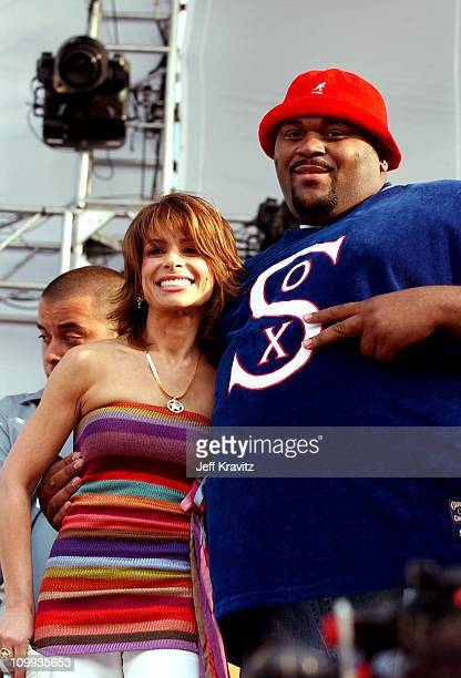 Paula Abdul and Ruben Studdard during Wango Tango Backstage at Rose Bowl in Pasadena CA United States