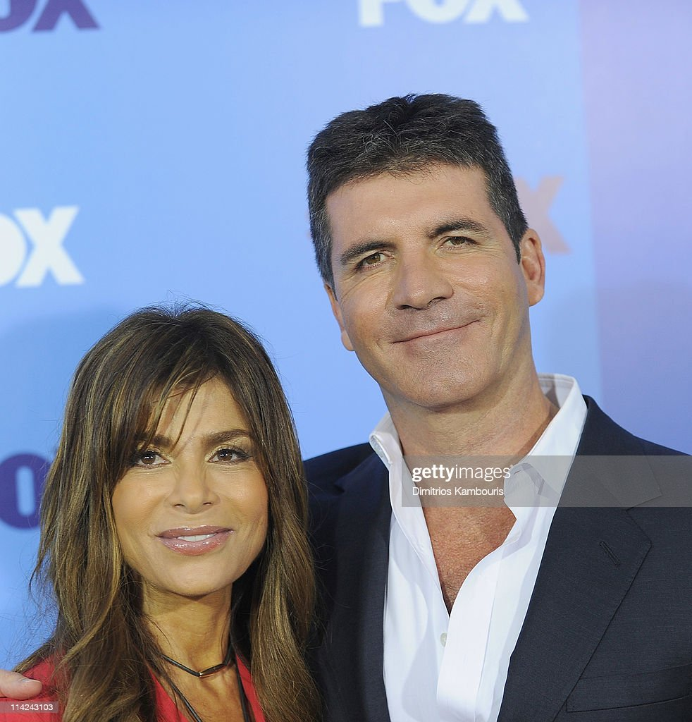 Paula Abdul and Simon Cowell attend the 2011 Fox Upfront at Wollman Rink - Central Park on May 16, 2011 in New York City.