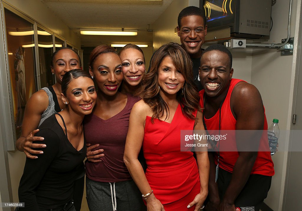 <a gi-track='captionPersonalityLinkClicked' href=/galleries/search?phrase=Paula+Abdul&family=editorial&specificpeople=202119 ng-click='$event.stopPropagation()'>Paula Abdul</a> and the Philadanco Dancers attend the Dizzy Feet Foundation Third 'Celebration of Dance' Gala at The Music Center on July 27, 2013 in Los Angeles, California.