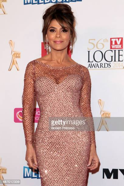 Paula Abdul arrives at the 2014 Logie Awards at Crown Palladium on April 27 2014 in Melbourne Australia