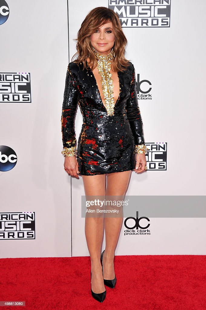 Paula Abdul arrives at the 2015 American Music Awards at Microsoft Theater on November 22, 2015 in Los Angeles, California.