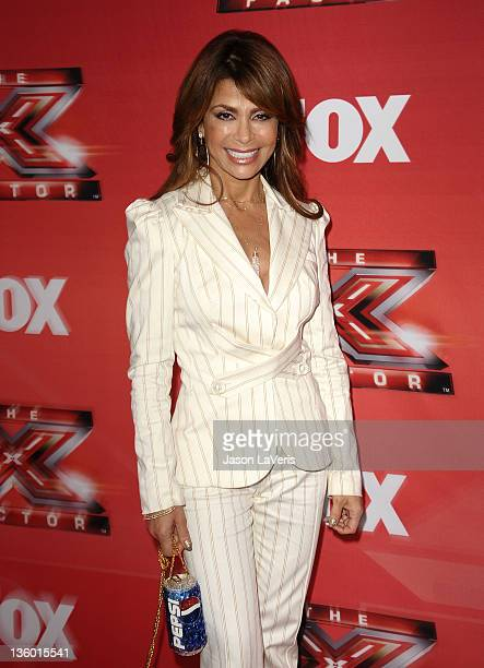 Paula Abdul attends a press conference for 'The X Factor' at CBS Television City on December 19 2011 in Los Angeles California
