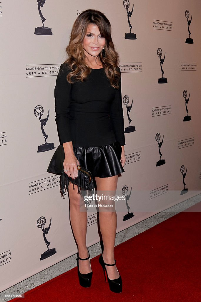 Paula Abdul attends the Academy of Television Arts & Sciences' 'The Choreographers: Yesterday, Today & Tomorrow' event at Leonard H. Goldenson Theatre on November 1, 2012 in North Hollywood, California.