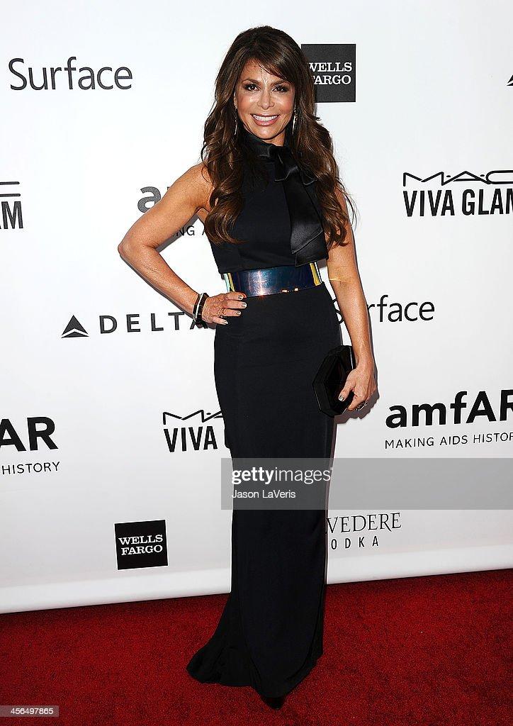 Paula Abdul attends the amfAR Inspiration Gala at Milk Studios on December 12, 2013 in Hollywood, California.