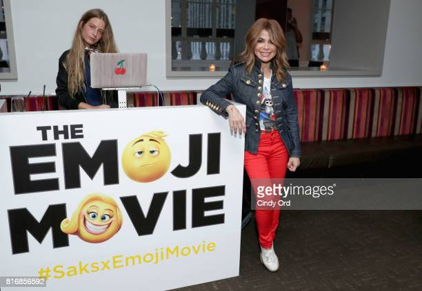 Paula Abdul attends the Saks Fifth Avenue and Sony Picture Animation's celebration of 'The Emoji Movie' at Saks Fifth Avenue on July 17 2017 in New...