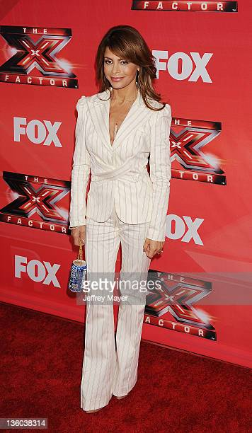 Paula Abdul attends 'The X Factor' press conference at CBS Television City on December 19 2011 in Los Angeles California