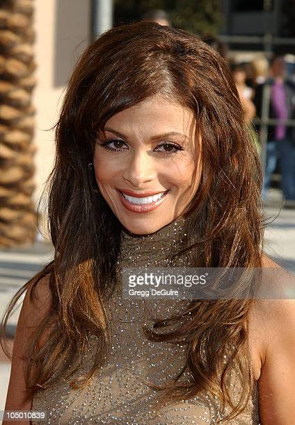 Paula Abdul during 2002 Creative Arts Emmy Awards Arrivals at Shrine Auditorium in Los Angeles California United States