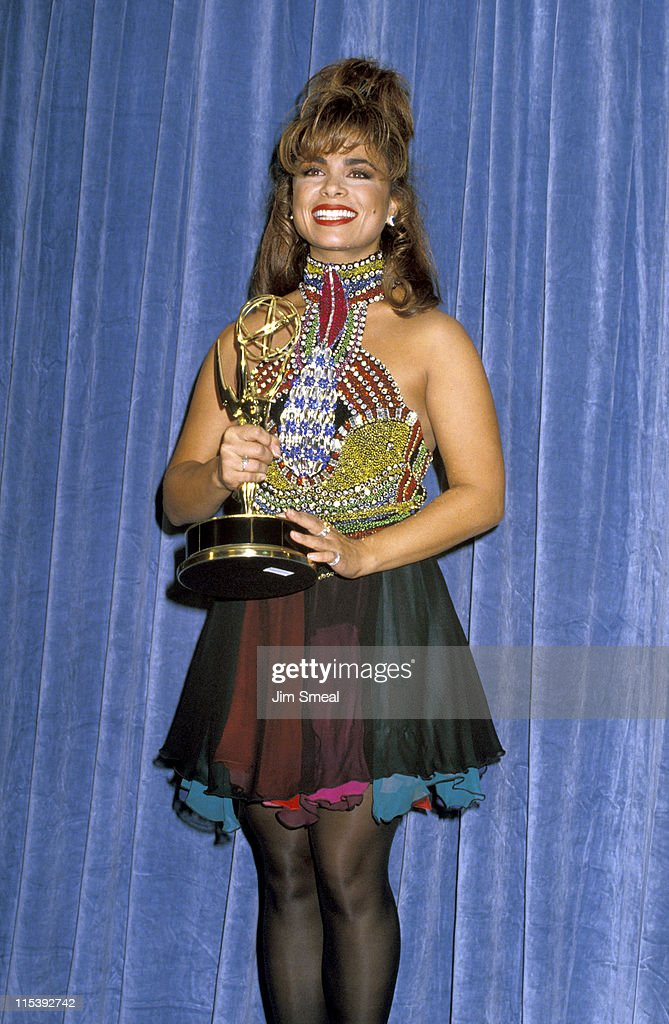 <a gi-track='captionPersonalityLinkClicked' href=/galleries/search?phrase=Paula+Abdul&family=editorial&specificpeople=202119 ng-click='$event.stopPropagation()'>Paula Abdul</a> during 42nd Annual Emmy Awards at Pasadena Civic Auditorium in Pasadena, California, United States.