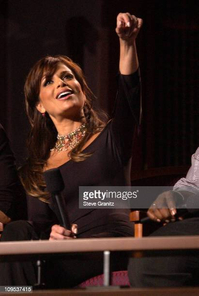Paula Abdul during 'American Idol' Season 1 Finale Performance Show at Kodak Theatre in Hollywood California United States
