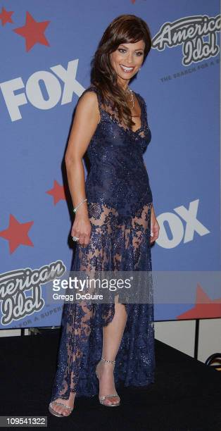 Paula Abdul during 'American Idol' Season 1 Finale Results Show Press Room at Kodak Theatre in Hollywood California United States