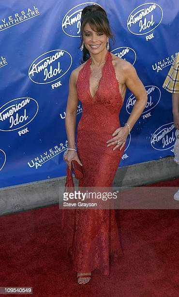 Paula Abdul during 'American Idol' Season 2 Finale Arrivals at Universal Amphitheater in Universal City California United States