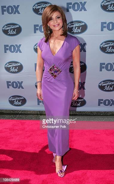 Paula Abdul during 'American Idol' Season 4 Finale Arrivals at The Kodak Theatre in Hollywood California United States